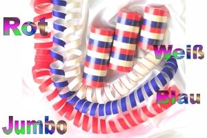 Luftschlangen Jumbo, Rot-Weiß-Blau
