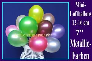 Kleine Luftballons, Rundform, 12-16 cm