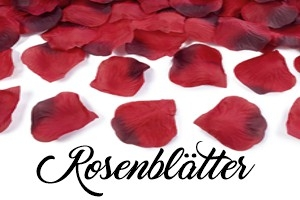 Rosenblätter Tischdekoration