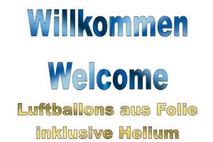 Willkommen Luftballons