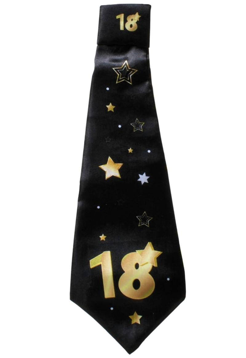 """Party-Krawatte mit einer großen /""""18/"""" in Schwarz//Gold Geburtstag Party Deko"""