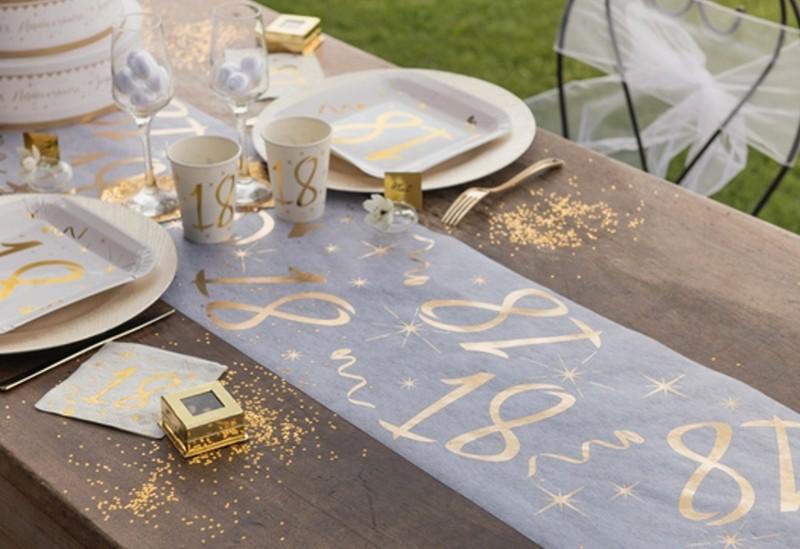 Tischdecke Zahl 70 Gold Tischdekoration Zum 70 Geburtstag