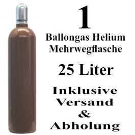 1 Ballongas Helium 25 Liter Flasche