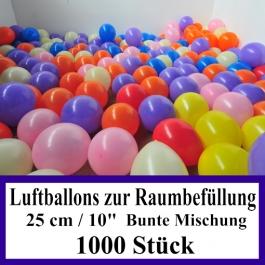 Luftballons zur Raumbefüllung, 1000 Stück, bunte Mischung