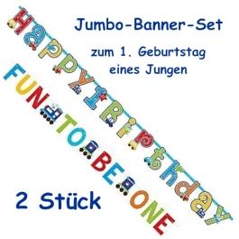 Jumbo-Banner-Set All Aboard Birthday Boy