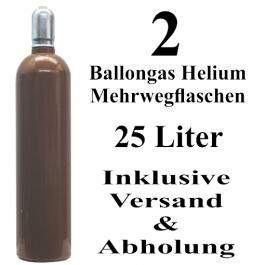 2 Ballongas Helium 25 Liter Flaschen