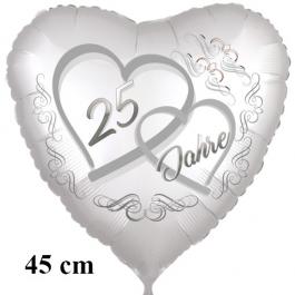 25 Jahre Herzluftballon zur Silberhochzeit
