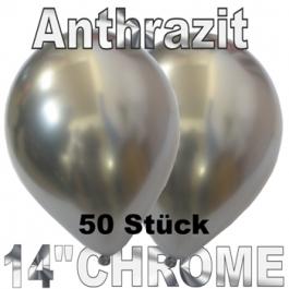Luftballons in Chrome Anthrazit 35 cm, 50 Stück