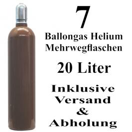 7 Ballongas Helium 20 Liter Mehrwegflaschen