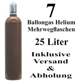 7 Ballongas Helium 25 Liter Flaschen