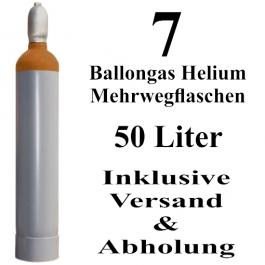 7 Ballongas Helium 50 Liter Mehrwegflaschen