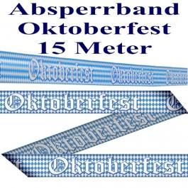 Absperrband, Abgrenzungsband Oktoberfest, 15 Meter