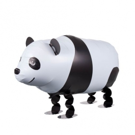 Airwalker Luftballon, Panda Bär, mit Helium laufender Tier-Ballon