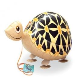Airwalker Luftballon, Schildkröte, mit Helium laufender Tier-Ballon