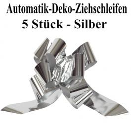 Automatik-Ziehschleifen, Silber glänzend, 5er Set