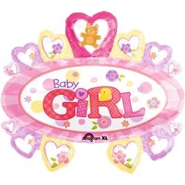 Großer Baby Girl Luftballon zu Taufe und Geburt eines Mädchens