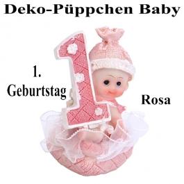 Deko-Püppchen zum ersten Geburtstag, Rosa