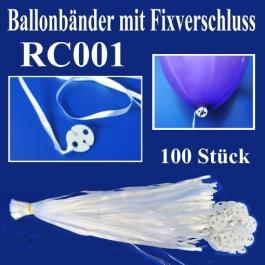 Ballonbänder mit Patent-Fixverschluessen, RC001, 100 Stück