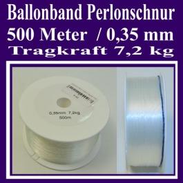 Ballonband Perlonschnur, 500 Meter, Band für Luftballons, Ballons, Riesenballons, zur Ballondekoration