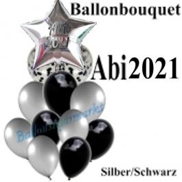 Ballon-Bouquet Abi 2021 mit 12 Luftballons