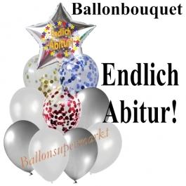 Ballon-Bouquet Endlich Abitur mit 10 Luftballons