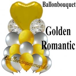 Ballon-Bouquet Golden Romantic mit 18 Luftballons