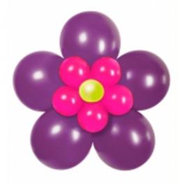 Ballondeko-Set Flower, Violett