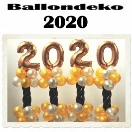 Dekoration Silvester, Tischdekoration, Ballondeko 2020