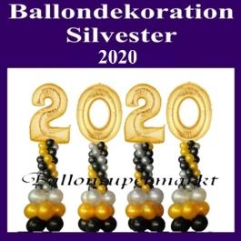 Ballondekoration Silvester, 2020