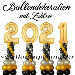 Ballondekoration Silvester, 2021