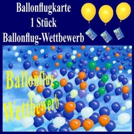 Ballonflugkarte, Ballonflug-Wettbewerb, Weitflug-Ballonkarte, Ballonmassenstart Postkarte, Karte für Luftballons, 1 Stück