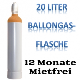 Ballongas Heliumgas Flasche Langzeitmiete, 12 Monate mietfrei