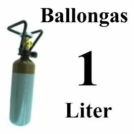 Ballongas Helium 1 Liter Mehrwegflasche