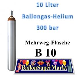 Ballongas 10 Liter Leichtstahlflasche 300 Bar