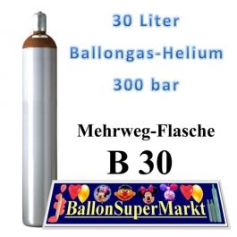 Ballongas 30 Liter Leichtstahlflasche 300 Bar