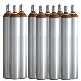 Ballongas Service Großraum NRW Deutschland 10 Ballongasflaschen 50 Liter, 99,996 reines Helium
