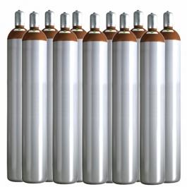 Ballongas Service Großraum NRW Deutschland 11 Ballongasflaschen 50 Liter, 99,996 reines Helium