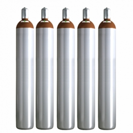 Ballongas Service Großraum NRW Deutschland 5 Ballongasflaschen 50 Liter, 99,996 reines Helium