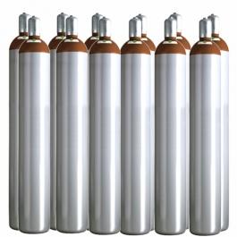 Ballongas Service NRW 12 Ballongasflaschen 50 Liter, 99,996 reines Helium