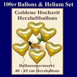 ballons-helium-set-goldene-hochzeit-100-herzluftballons-40-cm-in-gold-mit-ballongasflasche