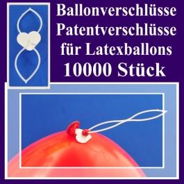 Ballonverschlüsse, Patentverschlüsse für Luftballons aus Latex, 10000 Stück