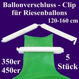 Ballonverschlüsse, Clips, Fixverschlüsse für Riesenballons 350er und 450er, 5 Stück