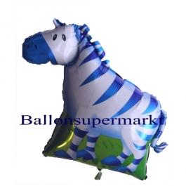 Luftballon Bergzebra, Folienballon ohne Ballongas