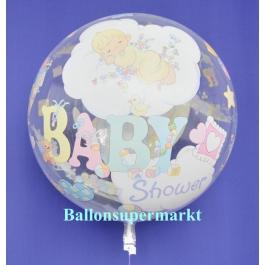 Luftballon aus der Serie Bubbles zu Geburt und Taufe mit Helium Ballongas, Baby Shower