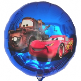 Cars Luftballon aus Folie, Lightning McQueen, Rundaballon, 45 cm
