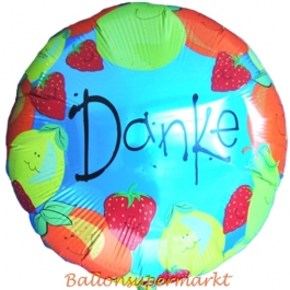 Luftballon Danke, danke sagen mit dem schwebenden Ballon aus Folie, Folienballon mit Helium, Ballongrüße