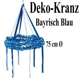 Dekorationskranz Blau-Weiß, 75 cm