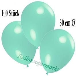 Deko-Luftballons Aquamarin, 100 Stück