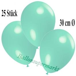Deko-Luftballons Aquamarin, 25 Stück