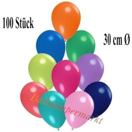 Deko-Luftballons Bunt gemischt, 100 Stück